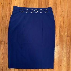 BRAND NEW! Mid/Pencil Cobalt Blue Skirt